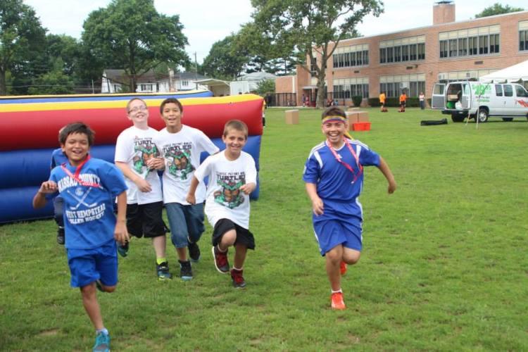 Kids running and having fun.