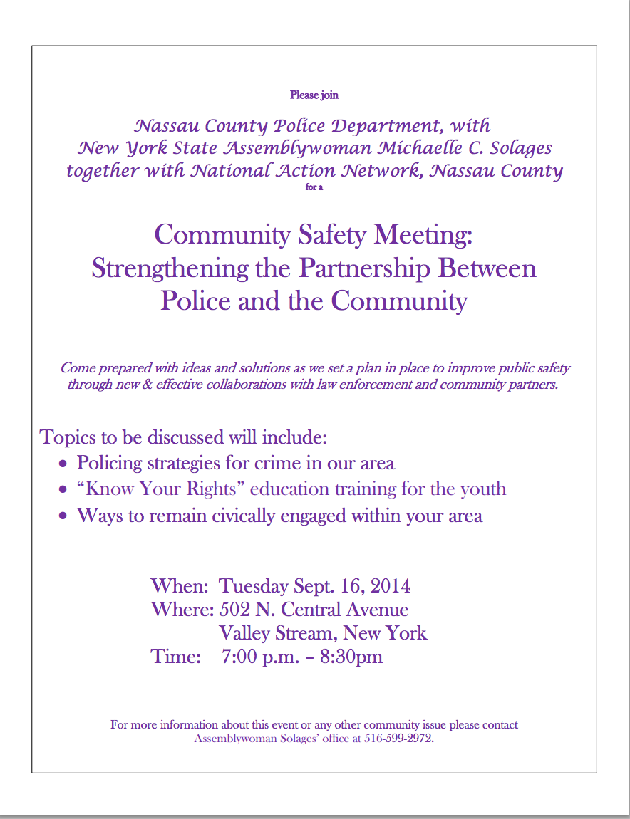 Community Safety Meeting_9_16_14