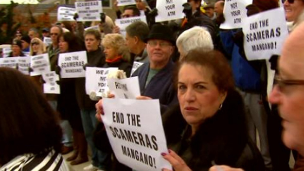 speed-camera-protest - CBS local