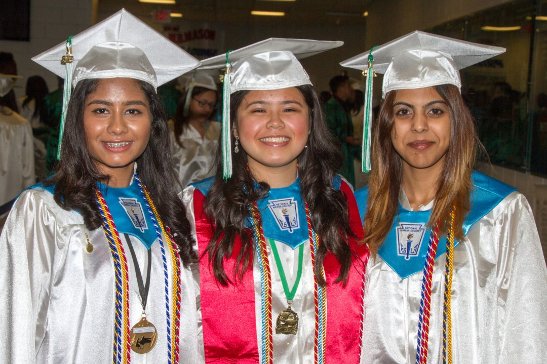 Parmea Singh Gabrielle Gutierrez and Christina Rambarran