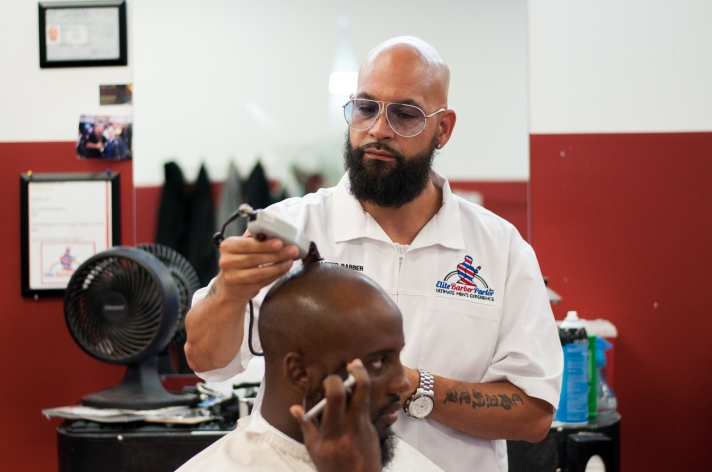The Elmont Excelsior Community News Four Pillars of Entrepreneurship Elite Barber Parlor Christopher Diaz Joseph DiDomizio 5