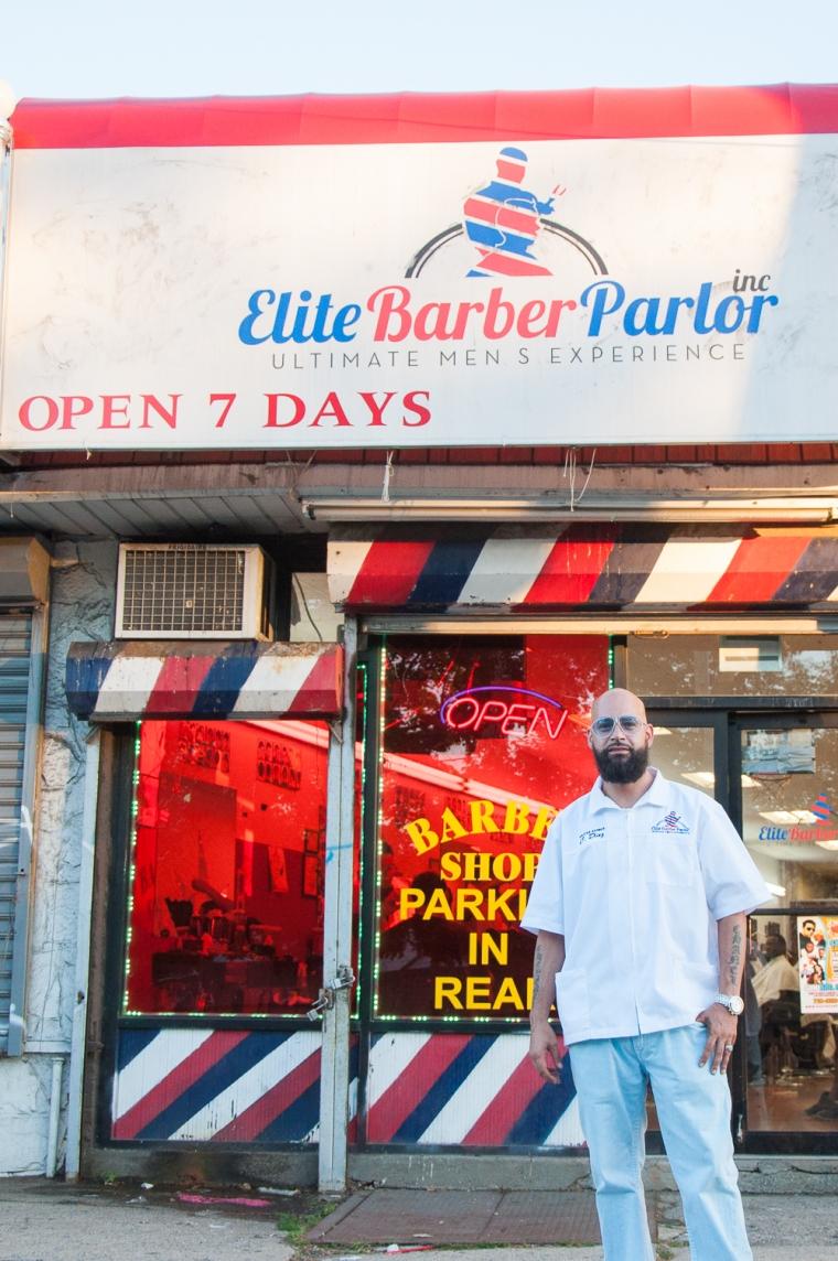 The Elmont Excelsior Community News Four Pillars of Entrepreneurship Elite Barber Parlor Chris Diaz Joe DiDomizio