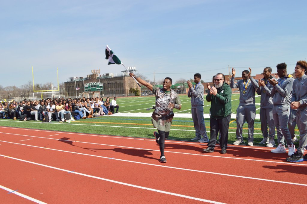 elmont spartans mascot championship pep rally.jpg-large