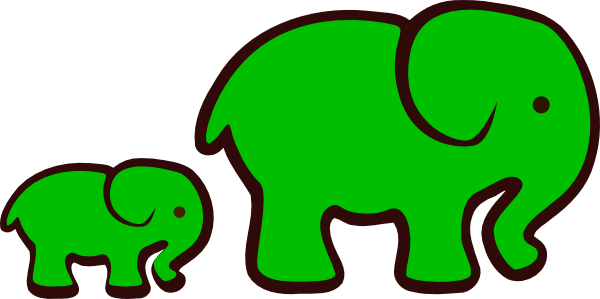 green-elephants-clip-art-fest